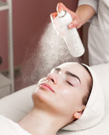 How thermal water can calm your skin after a chemical peel